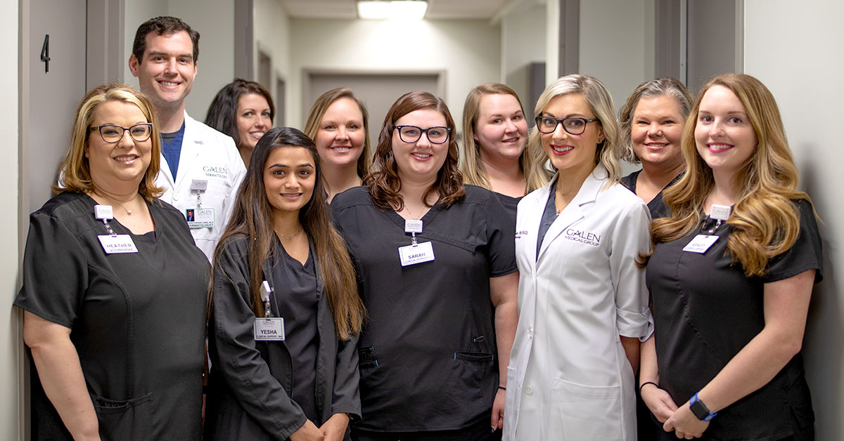 Our dermatology specialists and support staff at Galen Dermatology work hard to serve every client in their quest for beautiful, healthy skin.